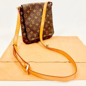 Authentic Louis Vuitton Musette Salsa Long Strap